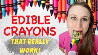 How To Make Edible Crayons That Really Work -Easy Edible Art School Supplies