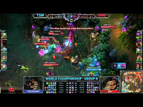TheOddOne epic Suicide Baron Steal | TSM vs OMG | Worlds 2013 Day 1
