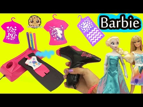 Airbrush Designer Maker - Make Custom Doll Clothing for Barbie + Disney Frozen Queen Elsa