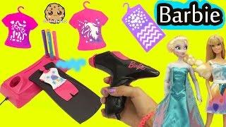 Airbrush Designer Maker - Make Custom Doll Clothing for Barbie + Disney Frozen Queen Elsa