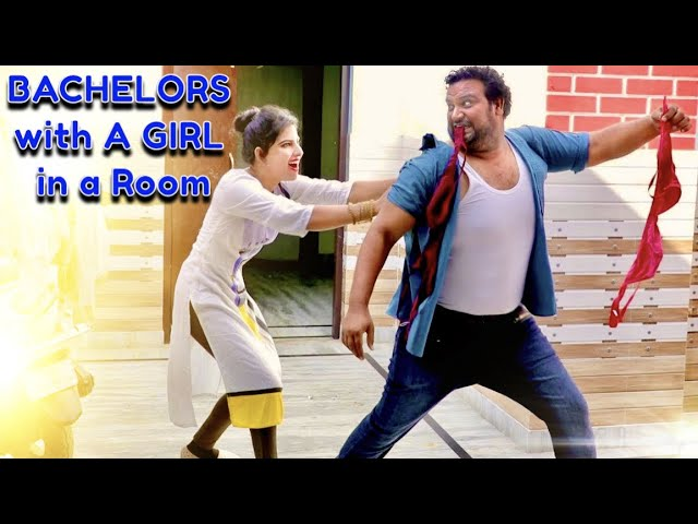 BACHELORS with A GIRL in a Room  Full Entertainment  Firoj Chaudhary