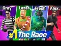 4 PERSON DEATHRUN RACE! Ft. LazarBeam, Crayator, AlexAce