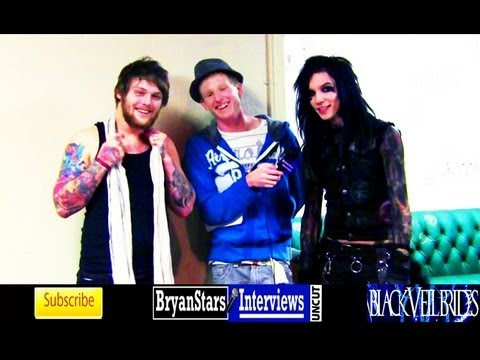 black Veil Brides Interview #5 Andy Biersack Ft. Danny Worsnop Asking Alexandria Uncut 2012 video