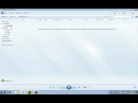 How To Add Videos into a Playlist in Windows Media Player