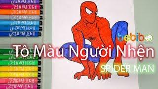 Cùng Bé Tô màu Spider Man - Bé Bí Bo Tô màu siêu nhân