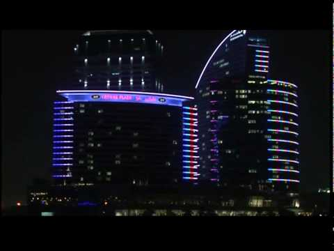 InterContinental Dubai Festival City Exterior Light Effects.wmv