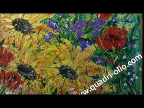 Dipinti di fiori youtube for Fiori dipinti a olio