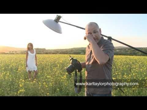 Sexy Fashion Shoot In A Field Of Flowers! - Karl Taylor Photography video