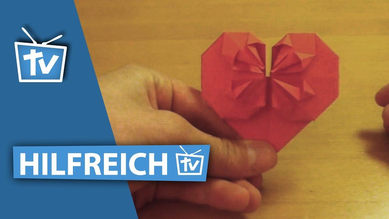 how to profi origami herz falten 3d origami herz falten wie profis anleitung youtube. Black Bedroom Furniture Sets. Home Design Ideas