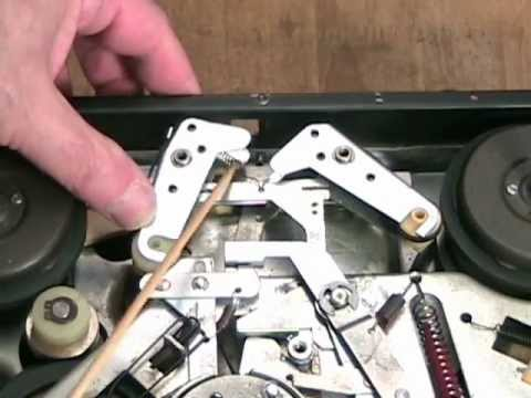 Exposing Wollensak Model 1288 Stereo Tape Recorder Restoration Brake  Mechanics Part 5