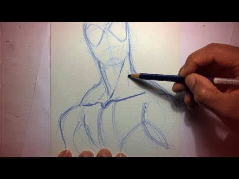 How To Draw Spider-Man (Starting With Pencils)