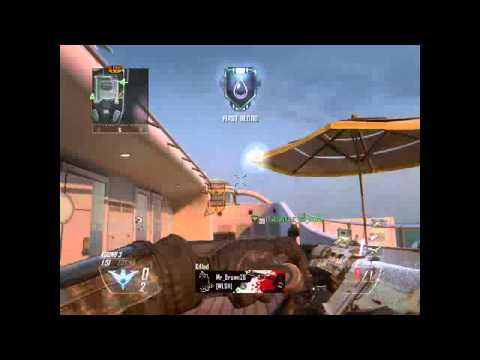 Black ops 2 grenade launcher + combat axe spawn kills on hijacked