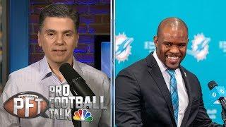 New Miami Dolphins coach Brian Flores on facing Bill Belichick | Pro Football Talk | NBC Sports
