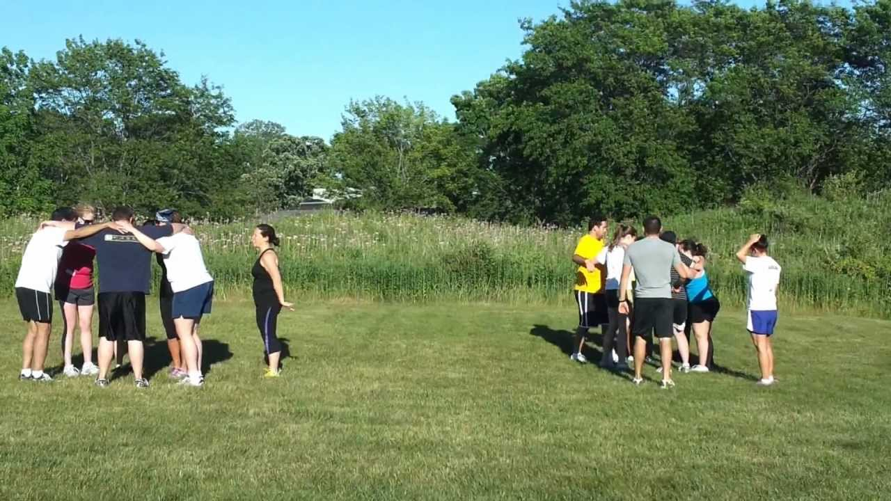 Fun exercise warm up games for adults