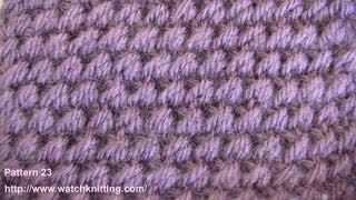 Rain Stitch - Free Knitting Patterns - Watch Knitting- Stitch 23