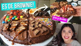 Pizza de Brownie CON MUCHOS TOPPINGS!  | RebeO