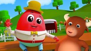Humpty Dumpty ngồi trên tường | vườn ươm vần | Farmees Song | 3D Rhyme | Humpty Dumpty Sat On a Wall