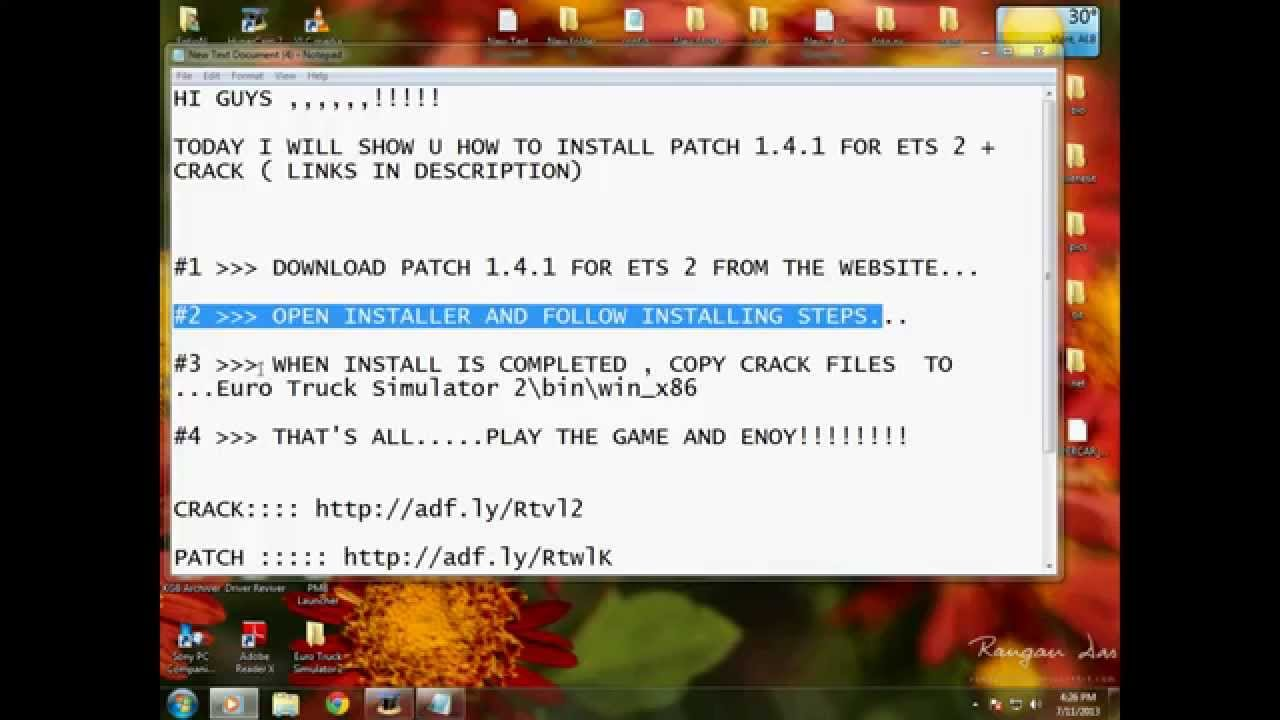 [ETS 2] How to install 1.4.1 patch+crack (links in description)