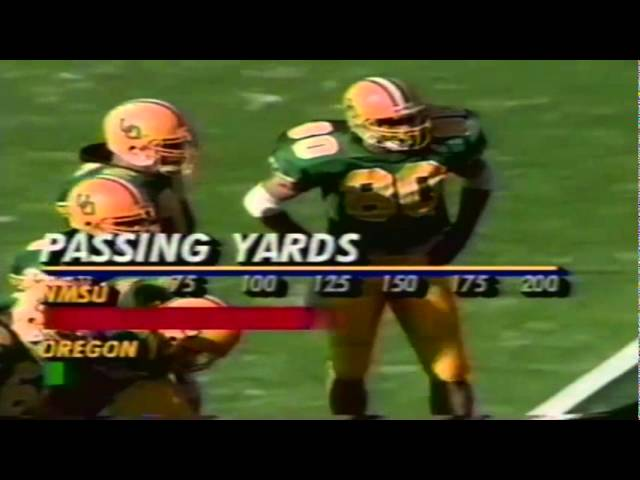 Oregon WR Brian Brown 10 yard catch for 1st down vs. NMSU 10-05-91