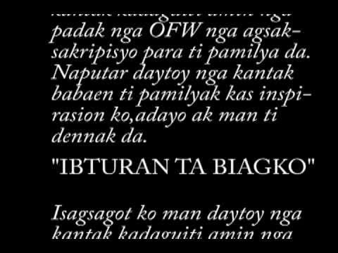 Ofw-ilocano Love Song-with Lyrics biagko Ibturan Ta By Peter A.tabangcura,jr.,ce video