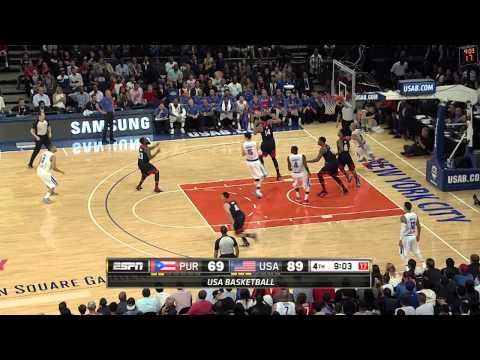 Stephen Curry Makes a Splash vs Puerto Rico