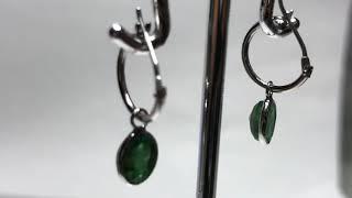 361. 14KT Gold Emerald Earrings