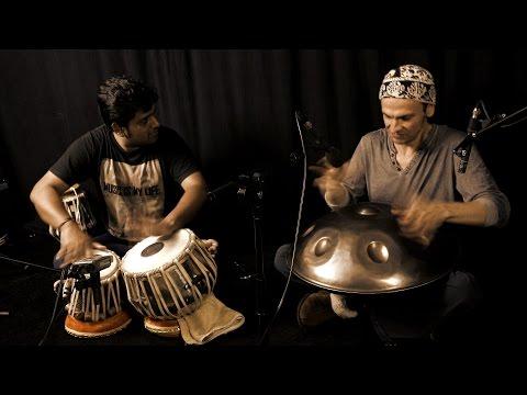 Nadishana & Amit Mishra, Handpan-Tabla jam in 9 beat (Mattatal)