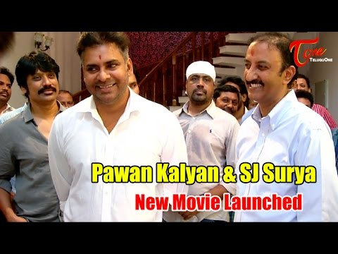 Pawan Kalyan and SJ Surya New Movie Launch