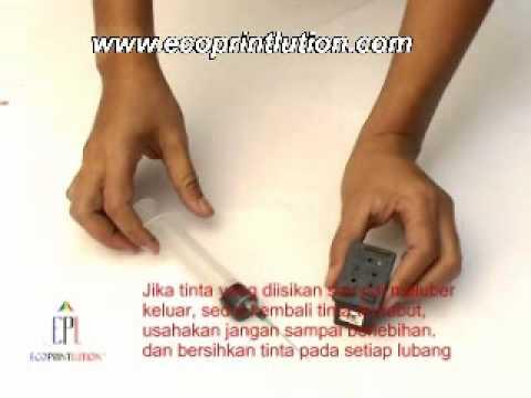 Cara isi ulang tinta HP 56, 27 dan 21 dg Finest-Ink - Ecoprintlution