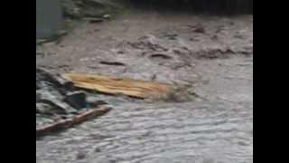 Dëmet e shkaktuara nga vershimet ne fshatin Bozovcë 10 Qershor 2012.