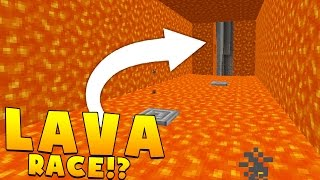 MINECRAFT LAVA RACE PVP (Lava Run Parkour) - Minecraft Minigame (FUNNY MOMENTS)