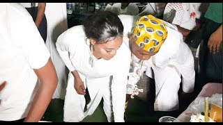 Billionaire Doro aka Ilabe scatter the dance floor as his wife watch at her Birthday party.