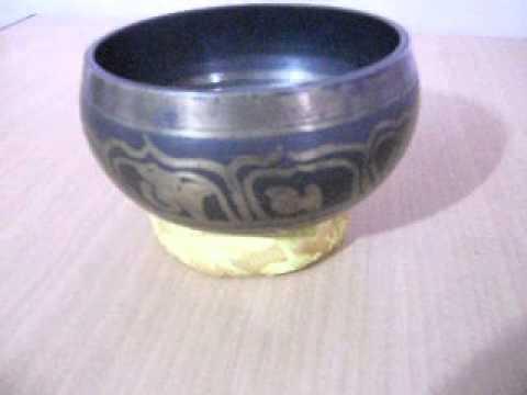 Mantra Carved Root C Chakra Tibetan Bowls - Beaten Hammered Singing ...