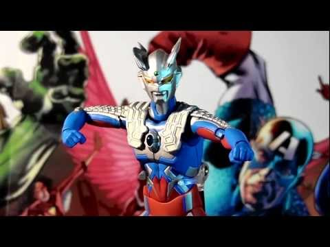R10 Bandai Ultra-act Ultraman Zero Action Figure Review video