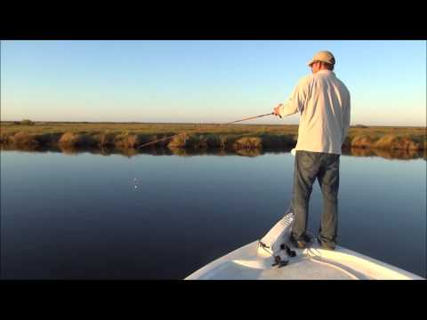 Fishing guide Capt. Robby Trahan on sight-fishing Sabine Lake redfish