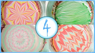4 Spring water marble designs: cute and pastel