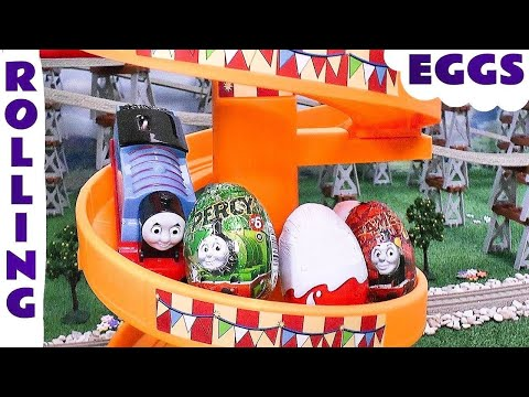 Thomas The Tank Surprise Eggs and Kinder Surprise Egg Surprise Toys Play Doh Thomas and Friends Eggs