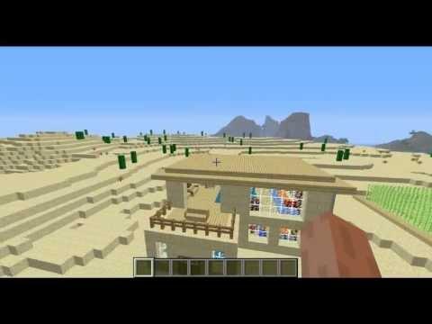 Minecraft Дома #4 - Дом из песчаника Sand House на tubethe.com