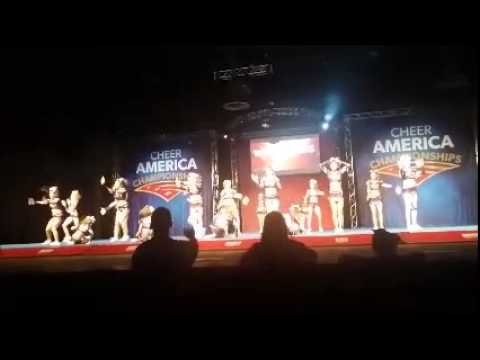 Woodlands Elite Black Hawks Cheer America National Champs 2015