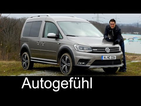 VW Volkswagen Caddy Alltrack FULL REVIEW Offroad test driven 4MOTION new crossover look neu