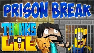 PRISON BREAK!! | Think's Lab Minecraft Mods [Minecraft Roleplay]