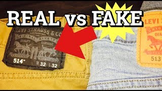 LEVIS JEANS | REAL VS FAKE | HOW TO SPOT FAKE LEVI'S JEANS!