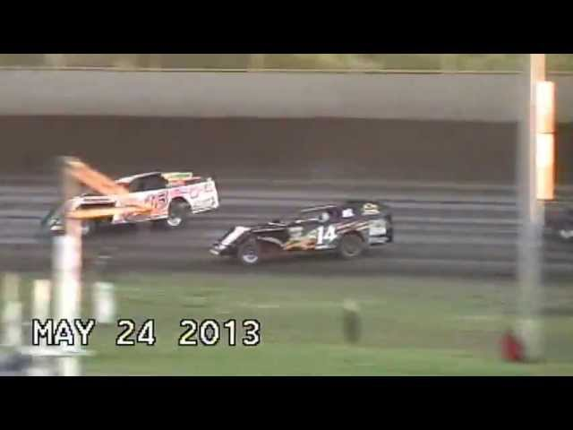 Kevin Graf flips, Modified, Tri City Speedway, Granite City, IL