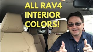 All 2019 RAV4 Interior Color Combinations - What's your favorite?