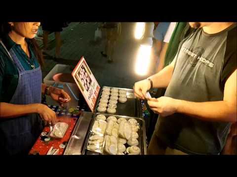 Wayne shows a great Thai Dessert, in a Bangkok outdoor market, and street side vendor