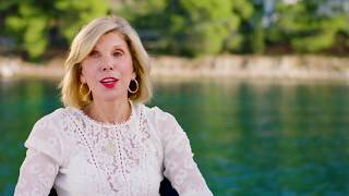 "MAMMA MIA! 2 Here We Go Again ""Tanya"" Christine Baranski On Set Interview"