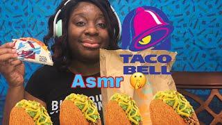 🤫 taco bell 🔔 asmr mukbang eating 🍽 show no talking