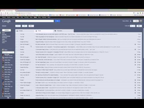 Gmail Tabbed Inbox Update July 2013