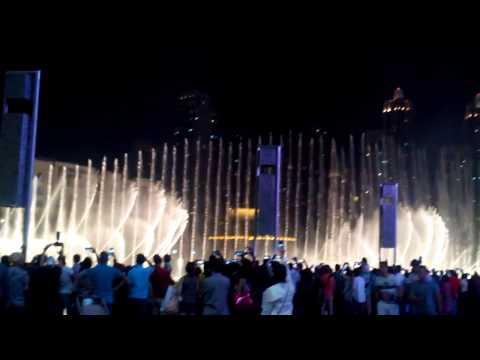 Water dance in Dubai mall