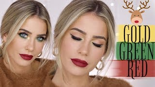 MAKE-UP LOOK in Weihnachtsfarben schminken?!🎄🎅🏽 | MRS. BELLA